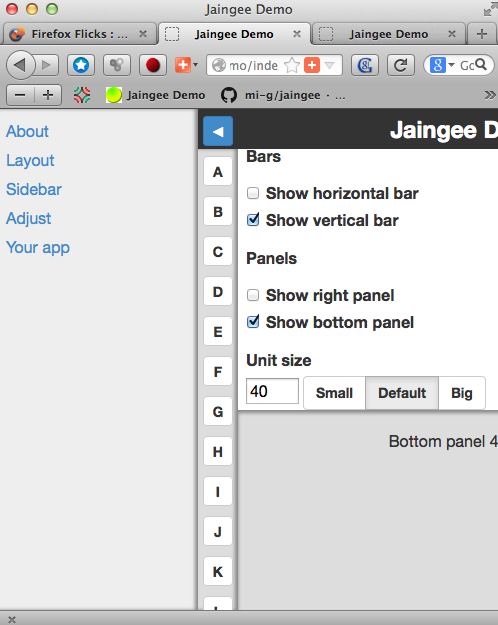 Jaingee app demo